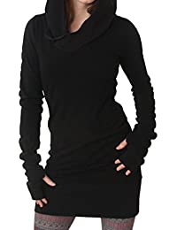 Women Casual Long Sleeve Slim Hooded Pure Tunic Sweater