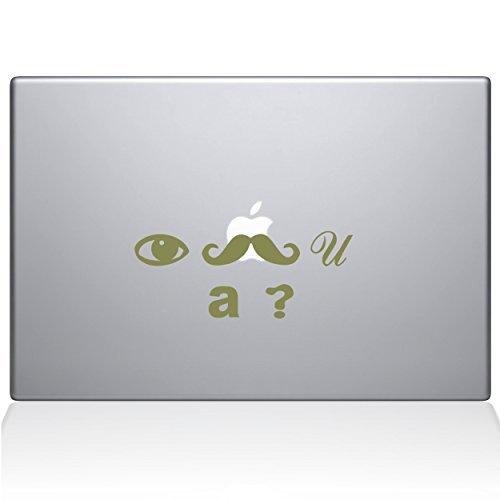 日本最級 The Decal Guru I 0159-MAC-15X-G I Mustache you Macbook a question question Vinyl Sticker 15 Macbook Pro (2016 & newer) Gold [並行輸入品] B0789BSHQ8, 細川作業服:2bb4ec97 --- senas.4x4.lt