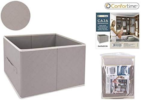 CONFORTIME Caja Ordenación TNT, 24 x 33 x 25 cm, Textil, Talla ...