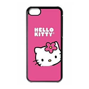 Hello Kitty Sitting Pink iPhone 5c Cell Phone Case Black BSI_993301