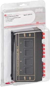 Goobay 27934-GB - Caja de interruptores para altavoces: Amazon.es: Electrónica
