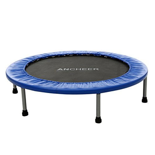 Cheap Ancheer Foldable Mini Trampoline, Age 14+ (Blue, 38inch)