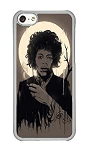 Apple Iphone 5C Case,WENJORS Adorable Jimi Hendrix Hard Case Protective Shell Cell Phone Cover For Apple Iphone 5C - PC Transparent
