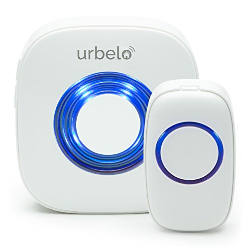 Hardwired Chime Kit (Urbelo 60-Chime Wireless Doorbell - Portable Plug-In Musical Door Bell Buzzer - Long Range Remote)