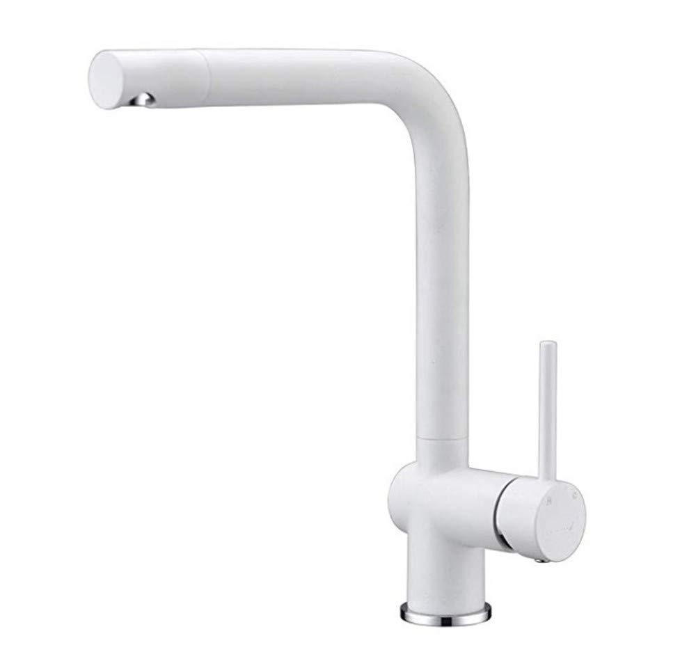 Edelstahl Einhand Mischer Einhebel  Küchenarmatur weißer Quarz, Standard Single Hole Kitchen Sink Wasserhahn
