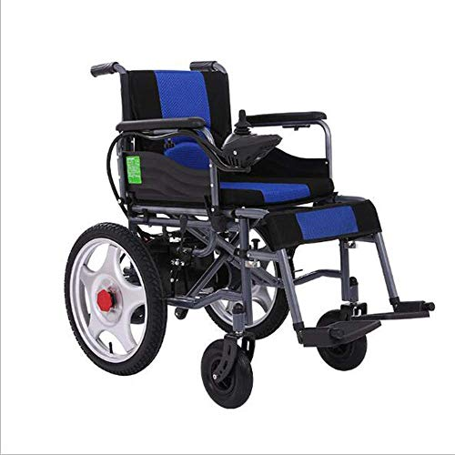 LNDDP Intelligent Folding Wheelchair Elderly Practical Electric Wheelchair/Manual/Automatic Switchable Four-Wheel Care Climbing Hills Non-Slip Function