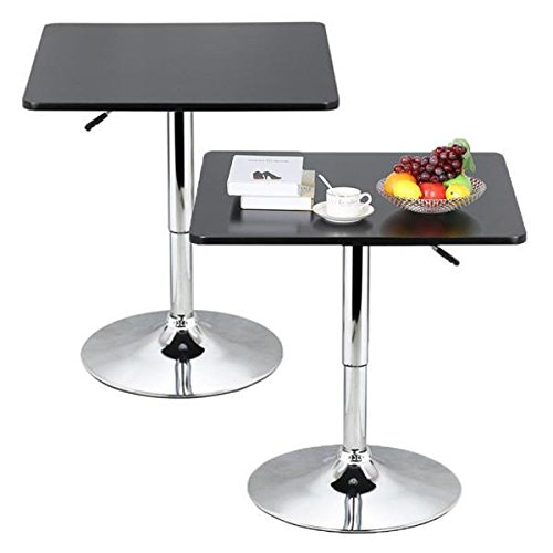 - Topeakmart Modern Square Bar Table Adjustable Bistro Pub Counter Swivel Cafe Tables (2)
