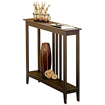 Amazon Com Tg888 Hallway Entry Table Black Slim Space Saver Accent Wooden Narrow Sofa Storage