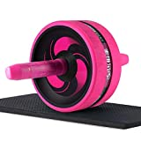 NENDUM Ab Roller, Wider Ab Roller Wheel for Core Training and Best Abdominal Workout (Pink) Review