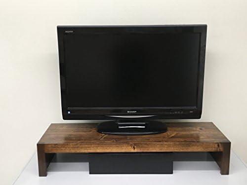Soporte Elevador para televisor y Monitor de Estilo rústico Moderno en Madera Maciza de algodón de 66 cm de Ancho y 96,5 cm de Ancho: Amazon.es: Juguetes y juegos