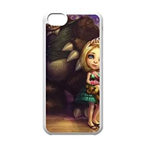 iPhone 5c Cell Phone Case White League of Legends Prom Queen Annie LK1613624