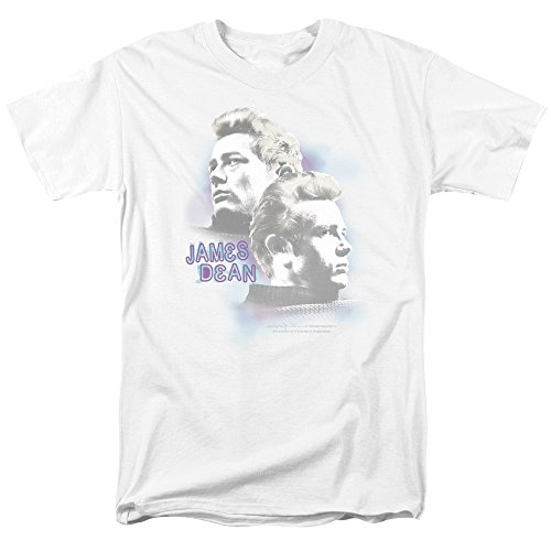 Trevco Men's James Dean Short Sleeve T-Shirt, Charmer White, Small