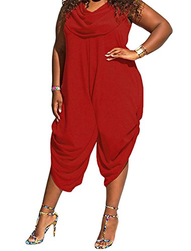 Womens Sleeveless Fitted Jumpsuit Romper