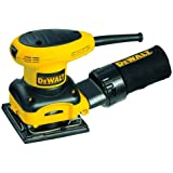 DEWALT D26441 2.4 Amp 40912 Sheet Palm Grip Sander with Cloth Dust Bag