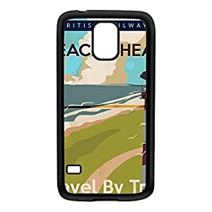 Beach head England Black Silicon Rubber Case for Galaxy S5 by Nick Greenaway + FREE Crystal Clear Screen Protector