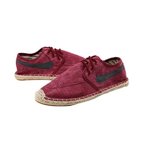 Meijunter on Turnschuhe Segeltuchschuhe Schuhe Rot Leinen Atmungsaktiv Slip Sandalen Unisex Fashion Flache qn1ZAqrBwU