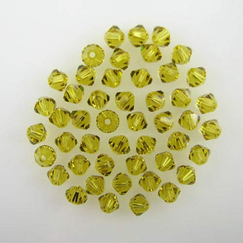 buyallstore 48 4mm Swarovski Crystal bicone 5301 Lime Beads