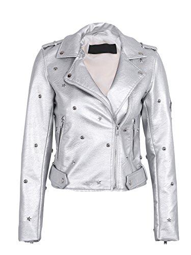 Silver Moto Jacket - 4