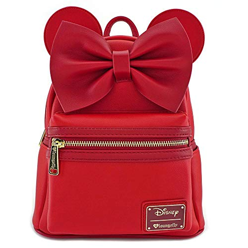 - Loungefly Minnie Mouse Red Faux Leather Mini Backpack Standard