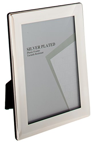 Viceni Thin Edge Silver Plated Photo Frame, 4 by 6-Inch