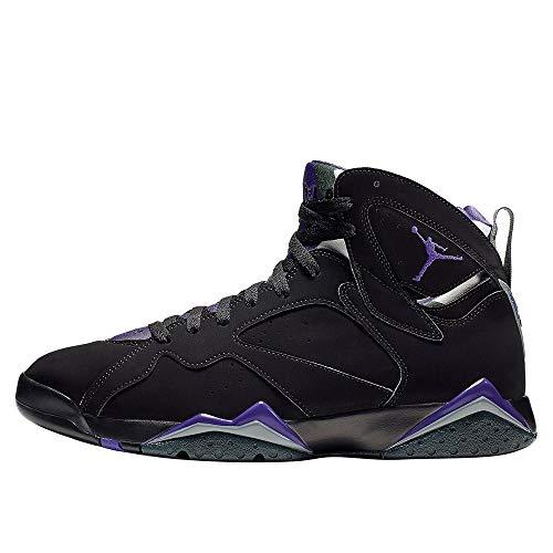 Jordan Nike Men's Air 7 Retro Ray Allen PE Black/Fierce Purple-Dark Steel Grey 304775-053 (Size: 11) (Jordan Retro 7 Year Of The Rabbit)