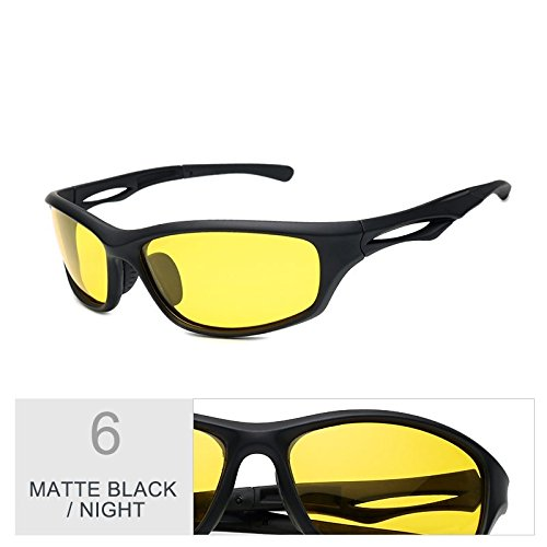 TIANLIANG04 Sol De Polarizadas Uv400 Gafas Black Deportes Deportes Para De Para Visión Guía Mate Gafas De Nocturna Hombres Matte Hombres Negra Gafas De Night Noche De Sol La Color wYYqPrI