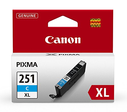 Canon CLI-251XL Cyan Ink Tank Compatible to MG6320 , IP7220 & MG5420, MX922, MG5520, MG6420, MG7120, iX6820, iP8720, MG7520, MG6620, MG5620 ()