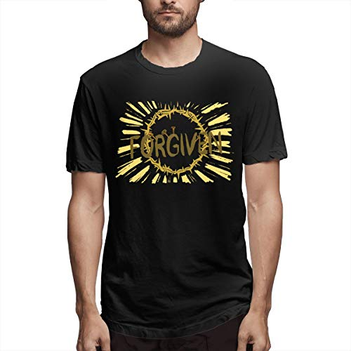 Beatthebox Jesus Christ Forgiven Crown of Thorns Forgiven Males Printing Street Wear Black Forgiven and Forgiving,Forgiven Amish School Shooting T Shirts XL