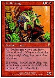 Magic: the Gathering - Goblin King - Seventh Edition (Gathering King Goblin The Magic)