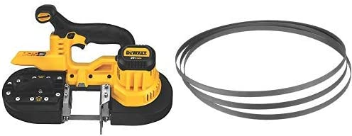 DEWALT DCS371B 20V MAX Lithium-Ion Band Saw, Bare-Tool with DEWALT DW3983C 18 TPI Portable Band Saw Blade, 3-Pack