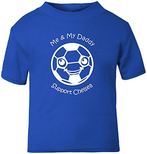 Hat-Trick Designs Chelsea Football Baby Childrens T-Shirt Top-Royal Blue-Me /& My-Unisex Gift