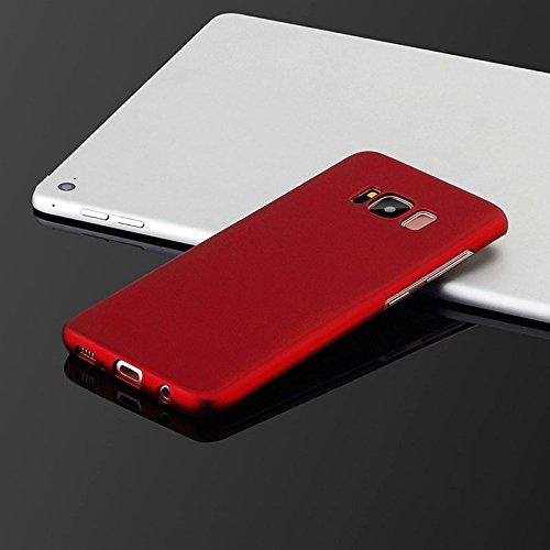 Hanbaili Caja protectora para Samsung Galaxy S8 Plus, Ultra delgada cubierta de la caja Pintura helada mate, resistente a los arañazos Red