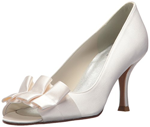 Stuart Shoes Bridal Weitzman - Stuart Weitzman Bridal & Evening Collection Women's Gigiritz, White Satin 7 N