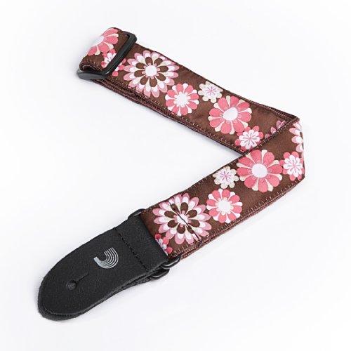 15uke02 nylon ukulele strap flowers