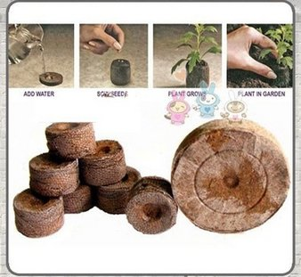 DiLi - Store - Grow Bag - Count 38mm Jiffy Peat Pellets Seed Starting Plugs Seeds Starter Plant Nursery Pots Early Jeffy Soil Garden Pots & Planters 1 PCs