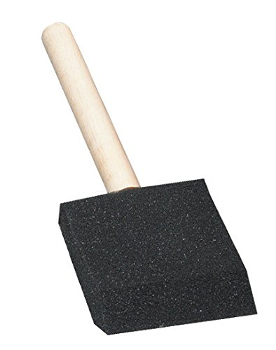 School Smart Wedged Shaped Foam Brush Set - 2 inches - Pack of 10