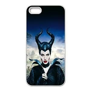 HA30 Angelina Jolie Maléfica Poster Caso Disney Cara iPhone 5 5S teléfono celular funda blanca del teléfono celular Funda Cubierta EEECBCAAJ75479