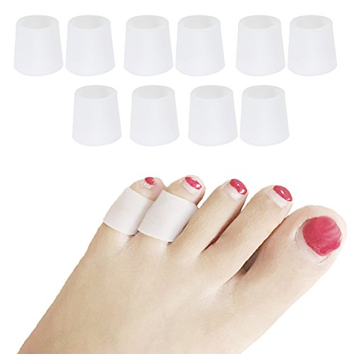 Toe Sleeves, 5 Pairs/Pack, Toe Protectors for Corns Remover, Callus Cushion, Bunion Treatment, Ingrown Nails, Pinching, Cramping (pinky toe sleeves) Corn Protection
