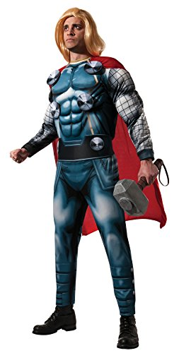Thor Ultimate Costume (UHC Men's Marvel Thor Deluxe Outfit Adult Fancy Dress Superhero Costume, STD (42-44))