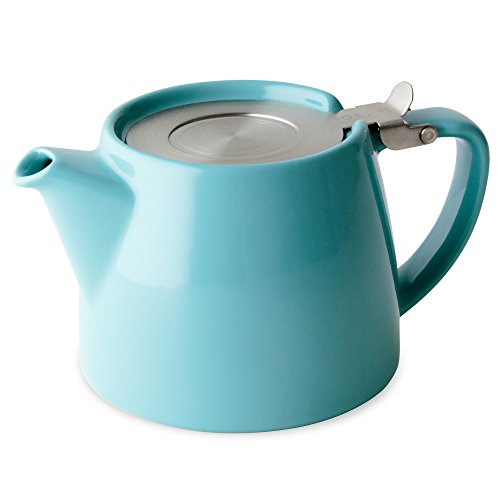 FORLIFE Stump 18-Ounce Teapot with SLS Lid and Infuser, Turquoise