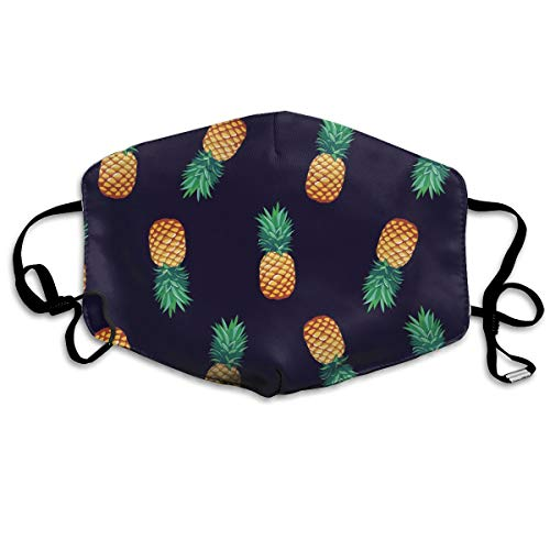 Face Mask Pineapple Pattern Earloop Mouth Masks -