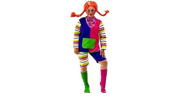 Disfraz de Pipi Calzaslargas niña: Amazon.es: Juguetes y juegos