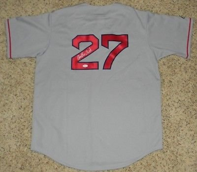 42e097275 Image Unavailable. Image not available for. Color: Carlton Fisk Autographed  Signed Boston Red Sox #27 Gray Majestic Jersey (authenticated by JSA