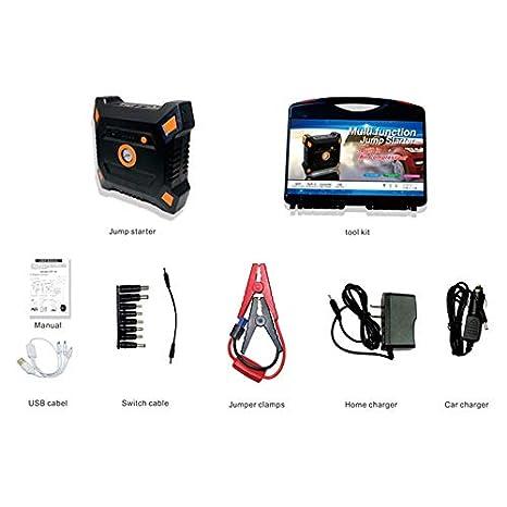 Amazon.es: Newgrange reenca portátil Auto de Salto de Starter 12 V 82800 mAh con compresor de Aire Incorporado (USB de Salida