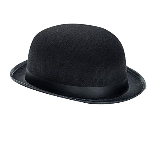Derby Hat - 19th Century Black - Halloween Costume Accessory - Kids/Adults]()