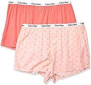Calvin Klein Womens Carousel Sleep Short 2 Pack Pajama Bottom