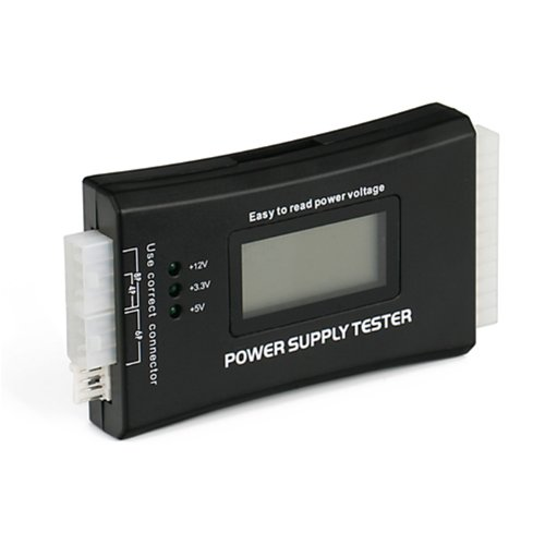 HDE 20+4 Pin LCD Power Supply Tester for ATX, ITX, BTX, PCI-E, SATA, HDD
