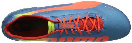 PUMA Mens evoSPEED 1.2 Firm-Ground Soccer Cleat Sharks Blue/Fluorescent Peach/Fluorescent Yellow HdXRXnwi1a