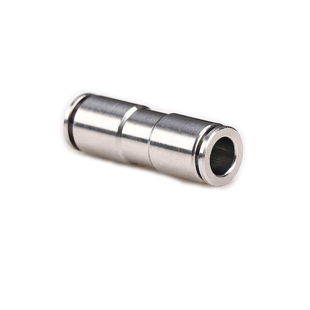 Beduan Push to Connect Fitting 3//8 Tube OD 304 Stainless Steel Straight Quick Adapter Union Splicer Joiner Mender