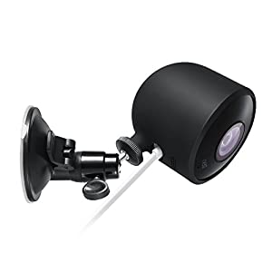 Nest Cam Outdoor Versatile Suction Cup Mount with integrated Protective Silicone cover for Nest Cam Outdoor by Wasserstein – Mount your Nest Cam Outdoor and angle it whichever way you like